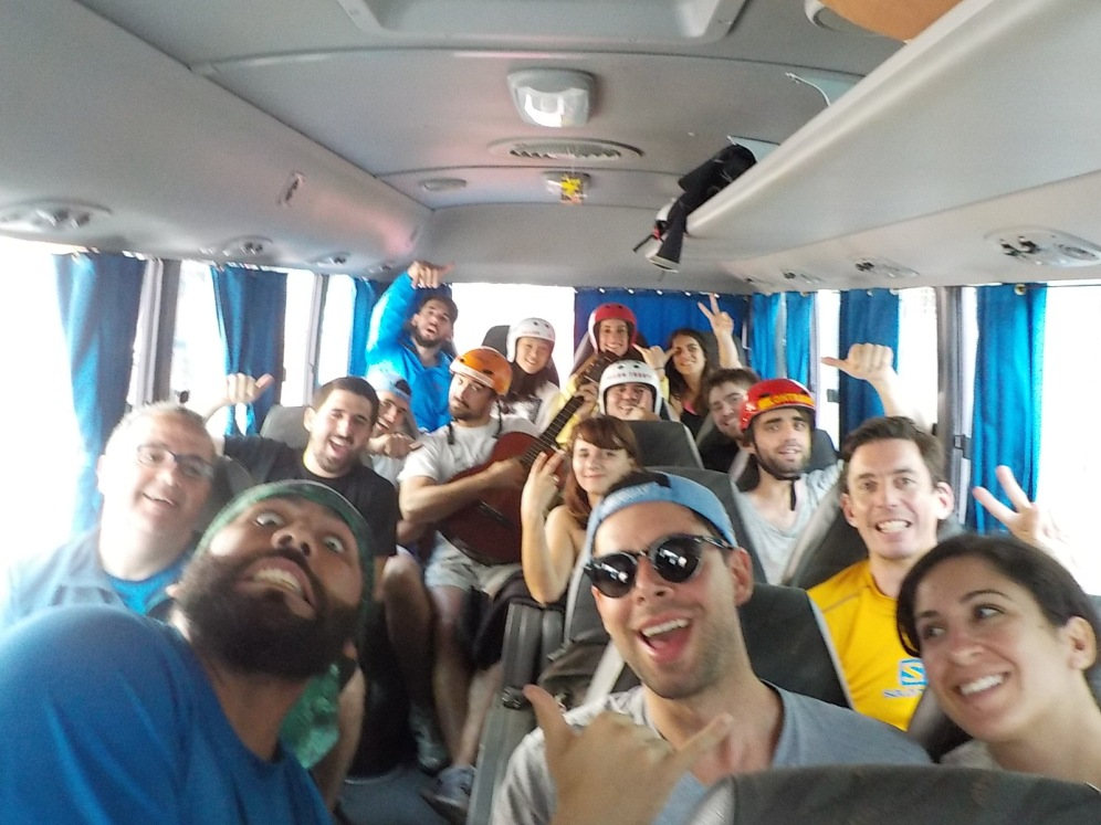 The fun bus. Guide Pato is the crazy one on the right